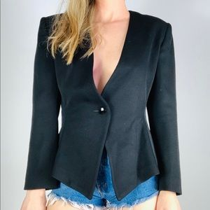 Vintage Christian Dior Wool Single Button Blazer